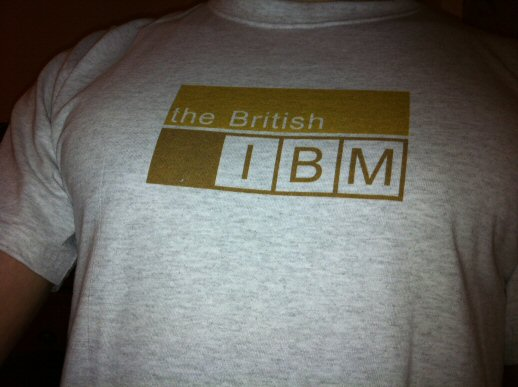 the British IBM t-shirt